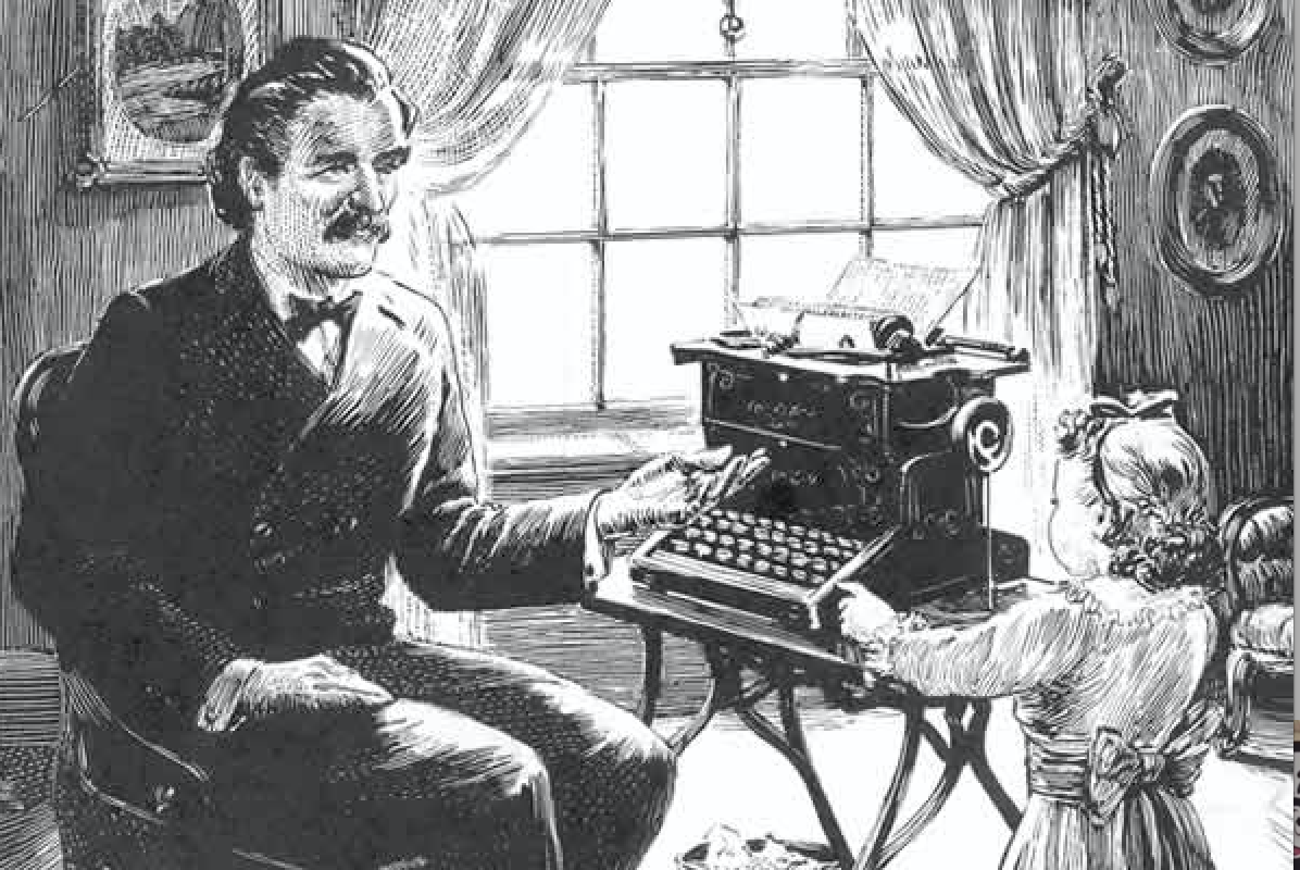 Image result for The first novel ever written on a typewriter, Tom Sawyer.