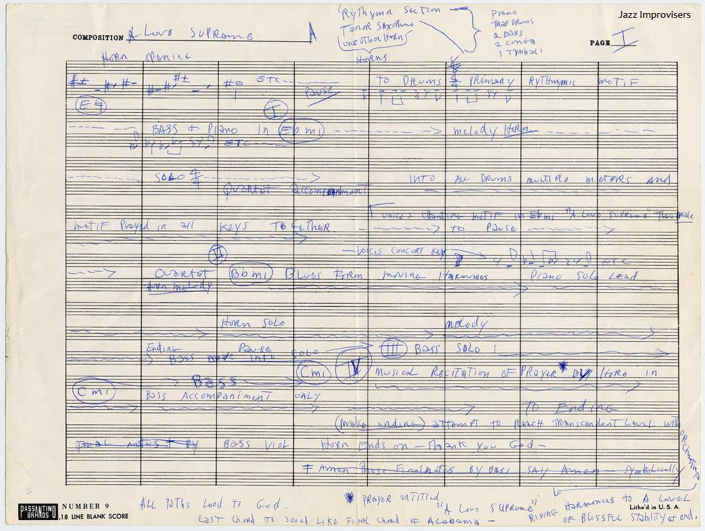 d1d47ea39f53 The great jazz saxophone player John Coltrane was born 87 years ago today.  To mark the occasion we present this rare document from the Smithsonian s  ...