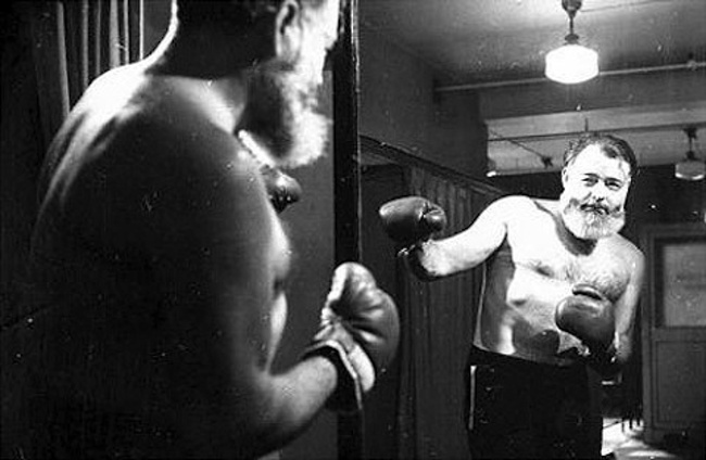 Image result for ernest hemingway boxing