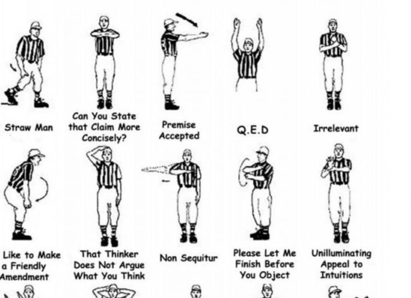 Philosophy Referee Hand Signals