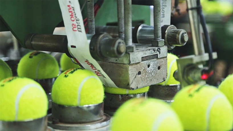 A Hypnotic Look At How Tennis Balls Are Made Open Culture