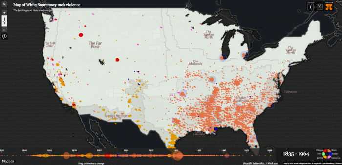 New Interactive Map Visualizes The Chilling History Of Lynching In - Interactive-map-us