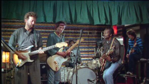 """Chuck Berry Jams Out """"Johnny B. Goode"""" with Eric Clapton, Keith Richards, John Lennon & Bruce Springsteen"""