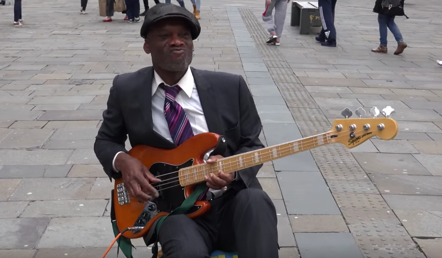 The Jimi Hendrix of the Bass: Watch a Busker Shred the Bass on the Streets of Newcastle