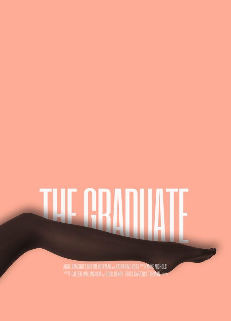 Graphic Designer Redesigns a Movie Poster Every Day, for One Year: Scarface, Mulholland Dr., The Graduate, Vertigo, The Life Aquatic and 360 More Artes & contextos the graduate