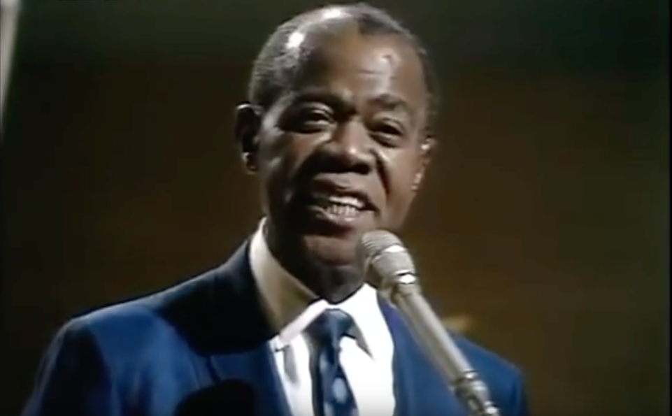 An Aging Louis Armstrong Sings What A Wonderful World In 1967 During The Vietnam War The