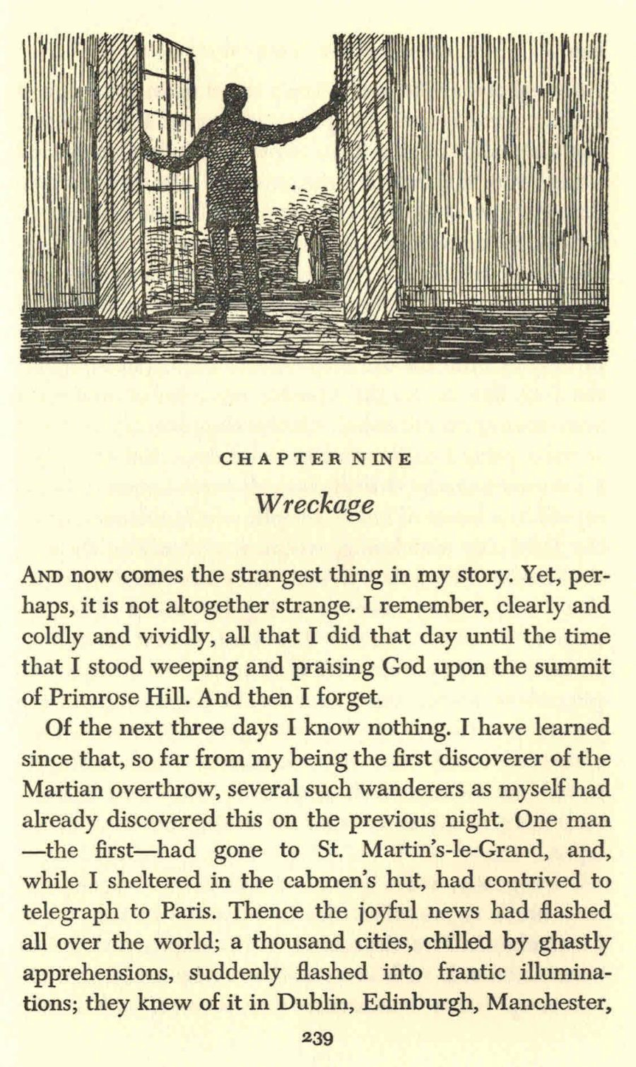 Edward Gorey Illustrates H.G. Wells' The War of the Worlds in His Inimitable Gothic Style (1960) Artes & contextos Wells4 e1494910159951