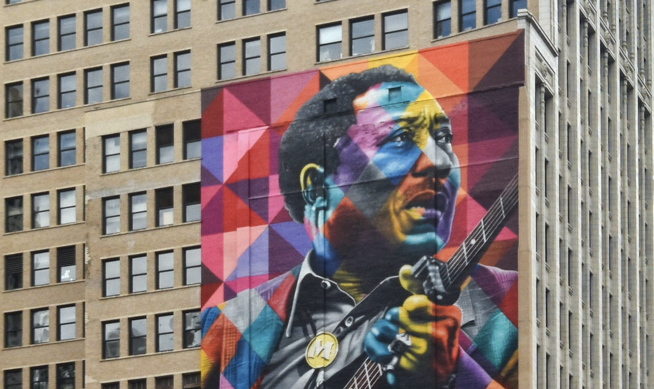 10-Story High Mural of Muddy Waters Goes Up in Chicago