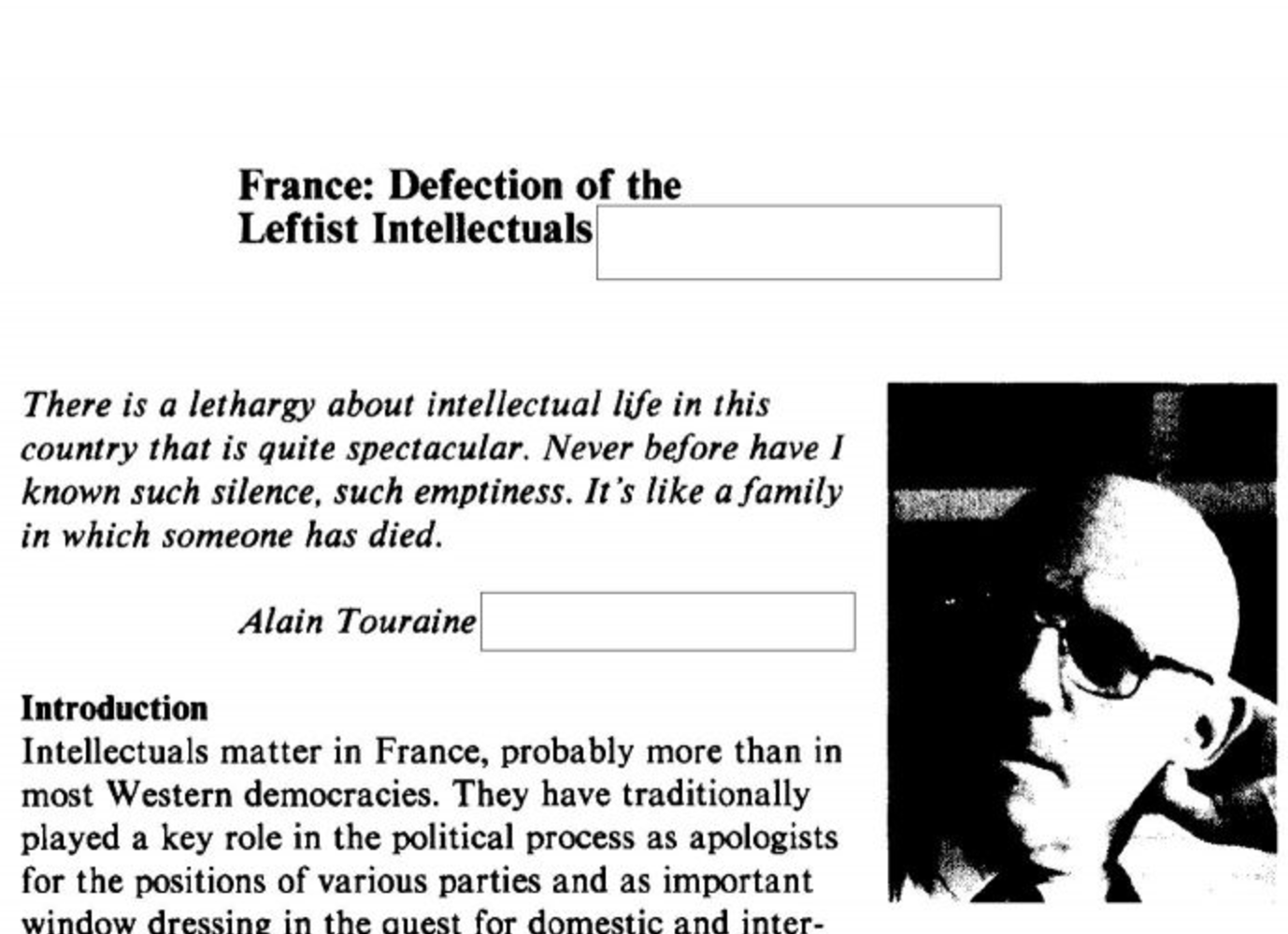 The CIA Assesses the Power of French Post-Modern Philosophers: Read
