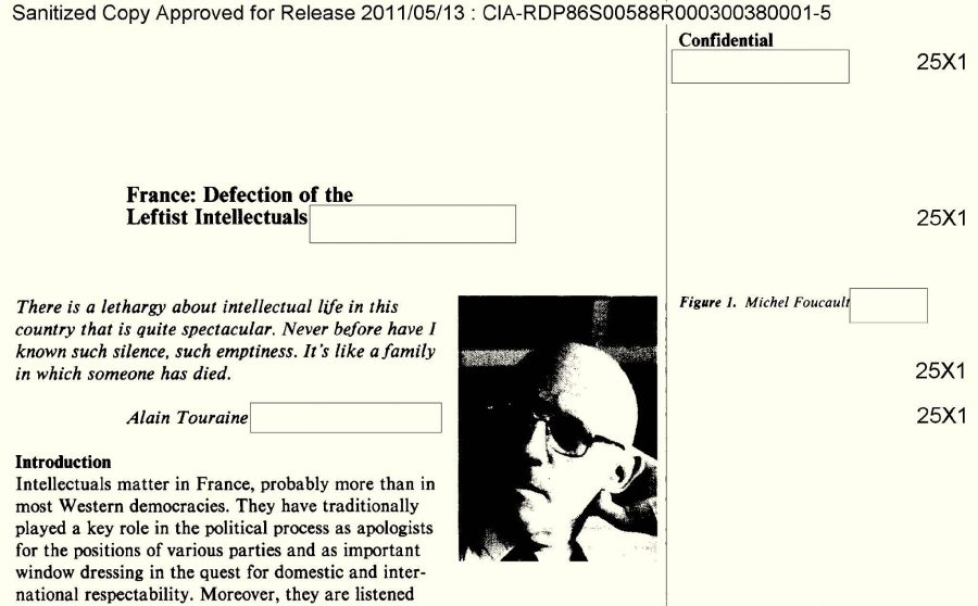 the cia assesses the power of french post modern philosophers read