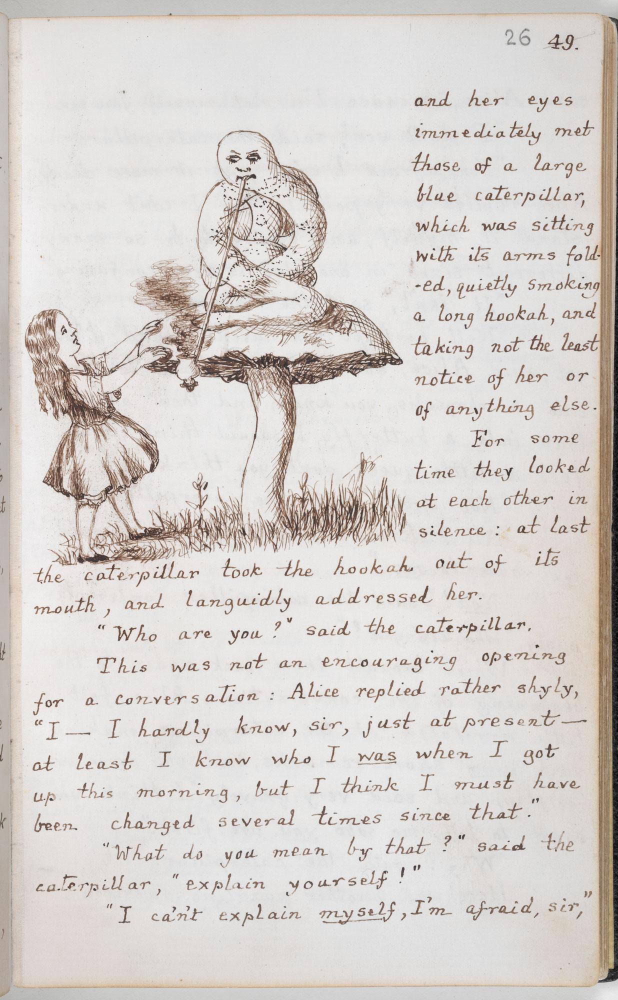 Lewis Carroll's Original Handwritten & Illustrated Manuscript for Alice's Adventures in Wonderland (1864) Artes & contextos Carrolls Alice 2