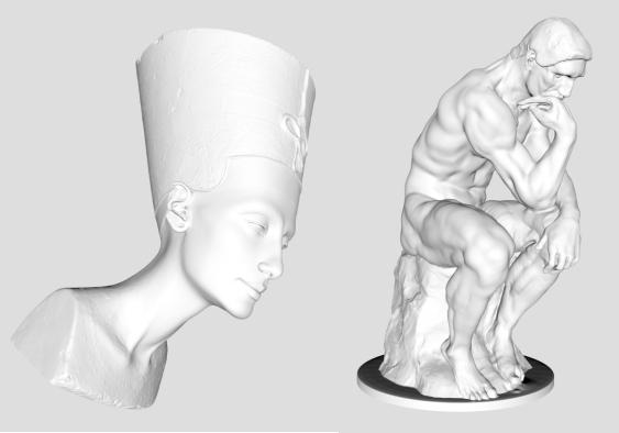 3D Scans of 7,500 Famous Sculptures, Statues & Artworks: Download & 3D Print Rodin's Thinker, Michelangelo's David & More