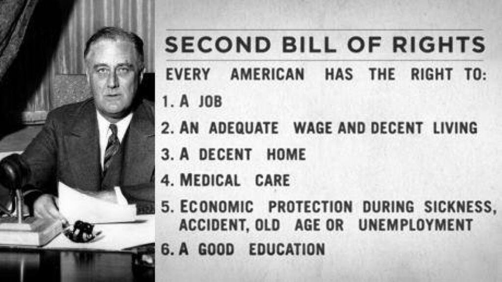 Image result for fdr second bill of rights