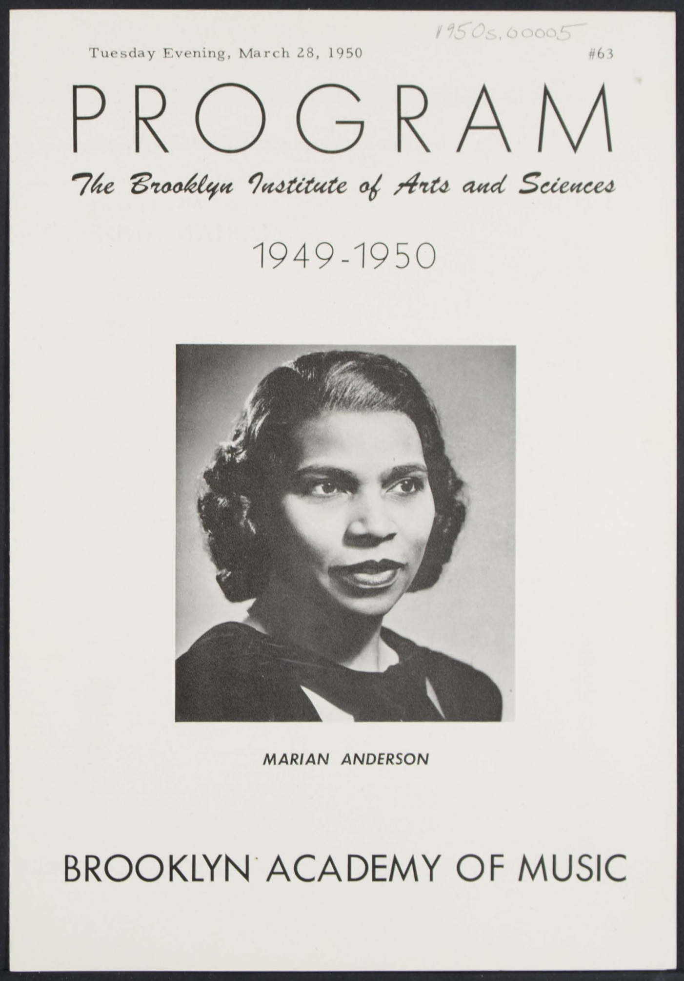 Brooklyn Academy of Music Puts Online 70,000 Objects Documenting the History of the Performing Arts Artes & contextos Marion Anderson