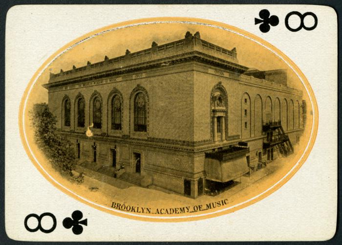 Brooklyn Academy of Music Puts Online 70,000 Objects Documenting the History of the Performing Arts Artes & contextos 1900 circa playing card 001 verso