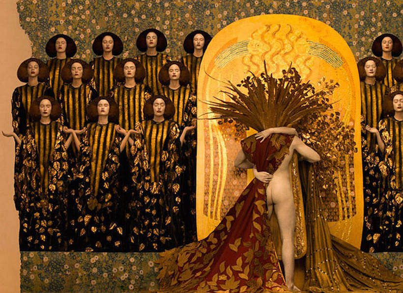 Gustav Klimt's Haunting Paintings Get Re-Created in Photographs, Featuring Live Models, Ornate Props & Real Gold
