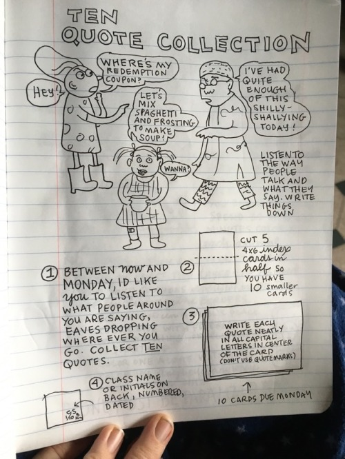 Follow Cartoonist Lynda Barry's 2017