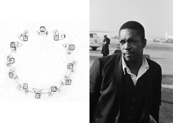 Open Culture | John Coltrane Draws a Mysterious Diagram Illustrating the Mathematical & Mystical Qualities of Music