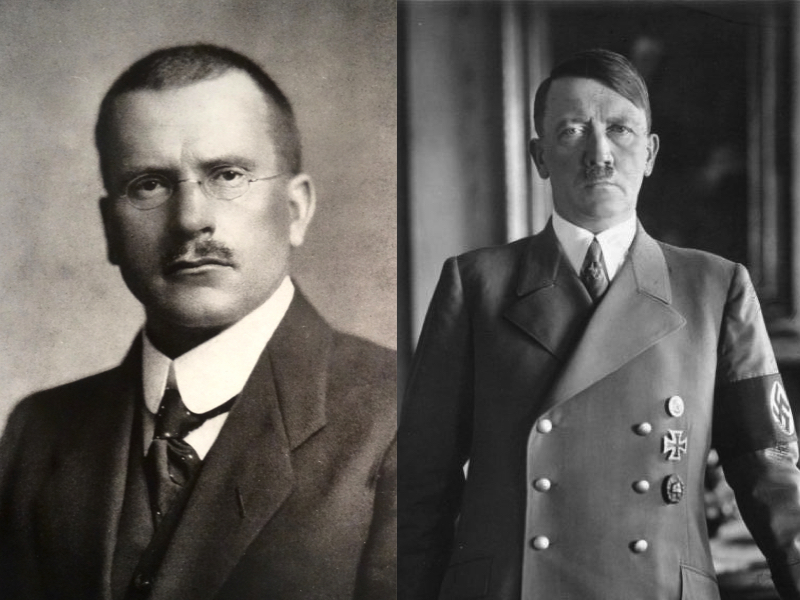 "Carl Jung Psychoanalyzes Hitler: ""He's the Unconscious of 78 Million Germans."" ""Without the German People He'd Be Nothing"" (1938)"