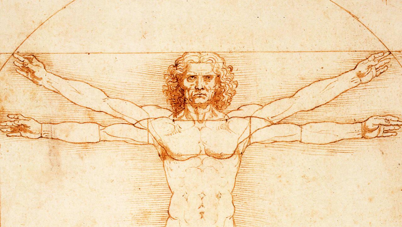 The Elegant Mathematics of Vitruvian Man, Leonardo da Vinci's Most Famous Drawing: An Animated Introduction