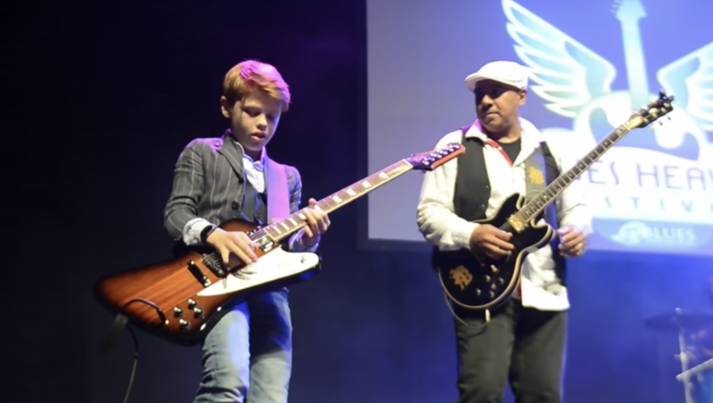 The Future of Blues Is in Good Hands: Watch 12-Year-Old Toby Lee Trade Riffs with Chicago Blues Guitarist Ronnie Baker Brooks
