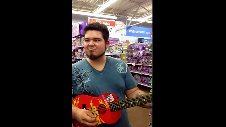 What Happens When a Musician Plays Stevie Ray Vaughan?s ?Pride and Joy? on a $25 Kids? Guitar at Walmart