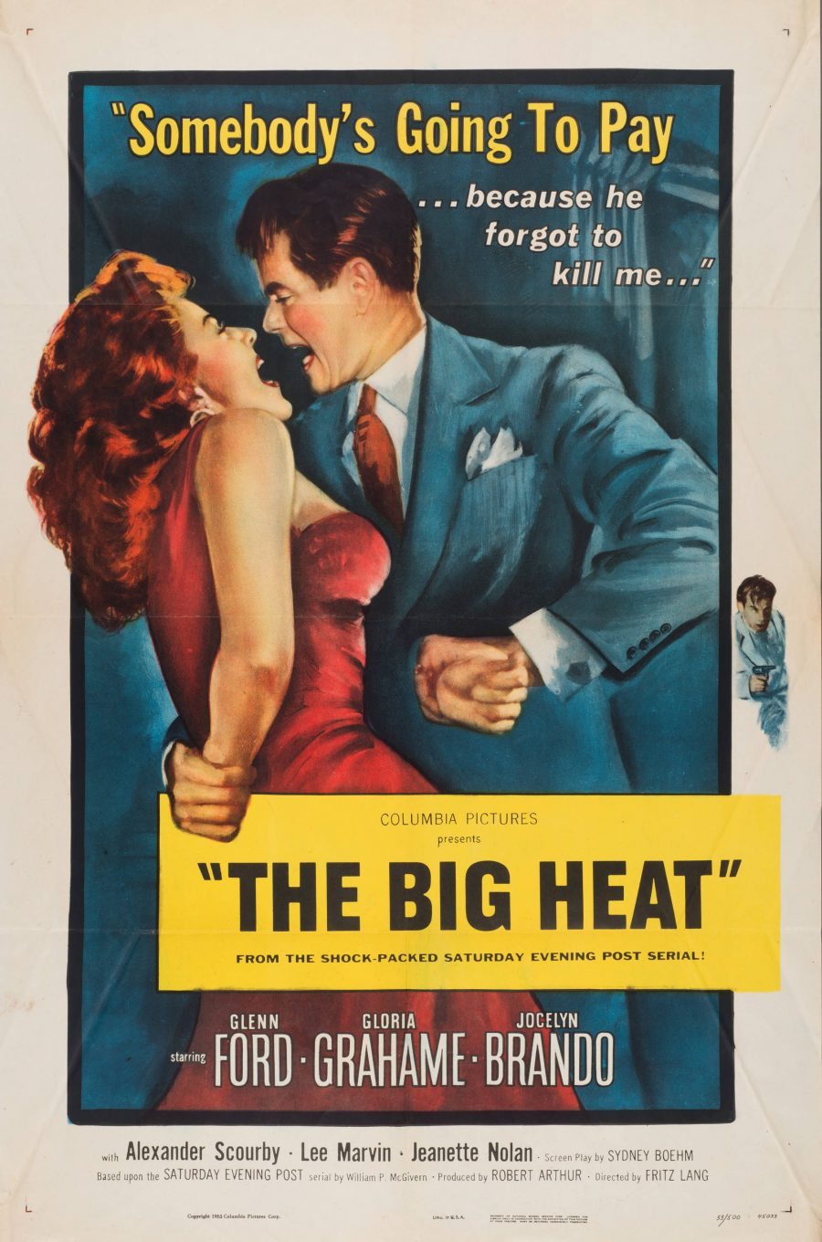 10,000 Classic Movie Posters Getting Digitized & Put Online by the Harry Ransom Center at UT-Austin: Free to Browse & Download Artes & contextos The Big Heat e1516348098796