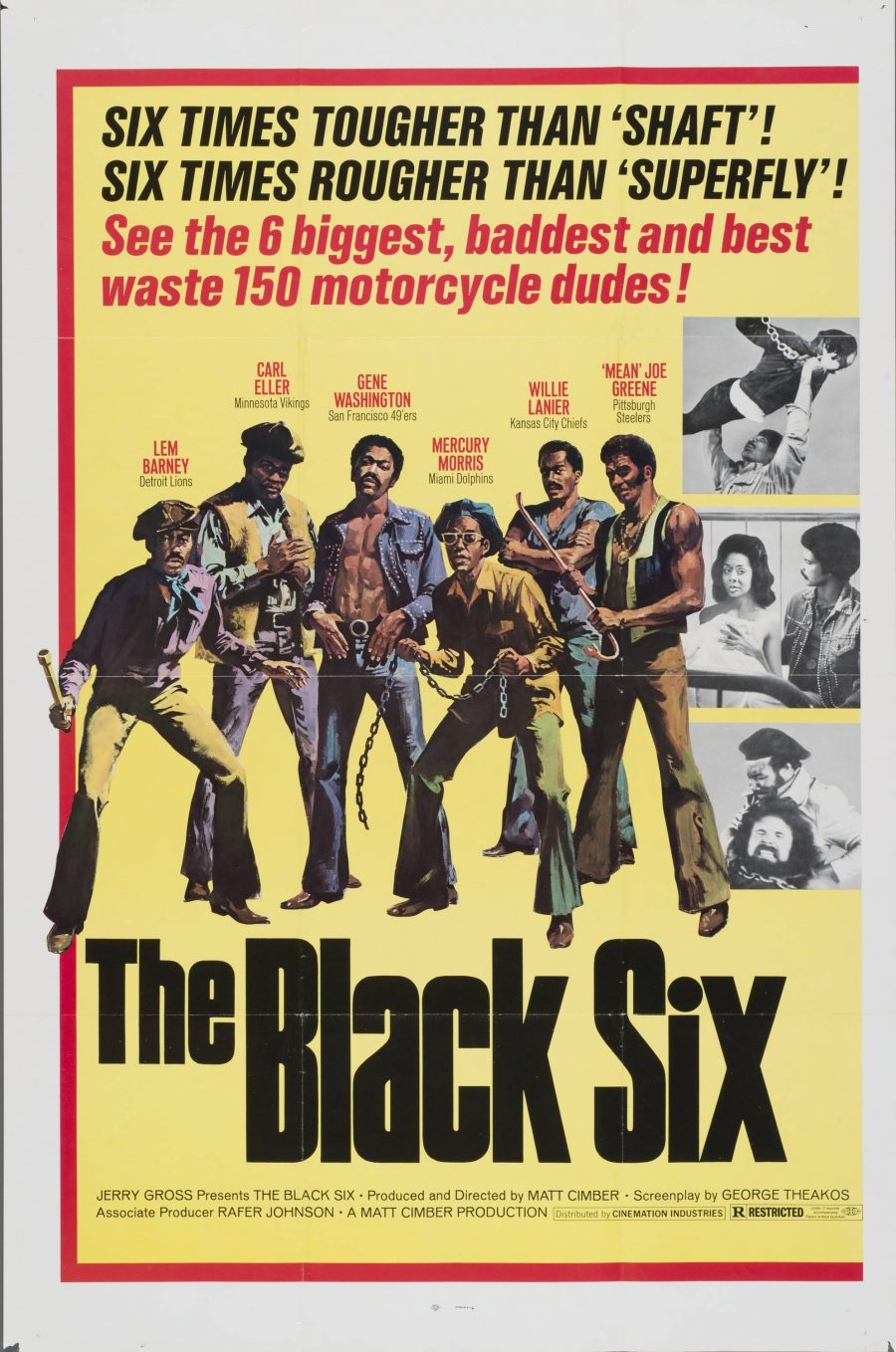 10,000 Classic Movie Posters Getting Digitized & Put Online by the Harry Ransom Center at UT-Austin: Free to Browse & Download Artes & contextos The Black Six e1516348086554