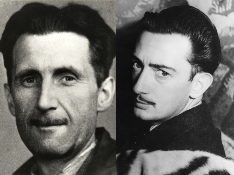 """George Orwell Reviews Salvador Dali's Autobiography: """"Dali is a Good Draughtsman and a Disgusting Human Being"""" (1944)"""