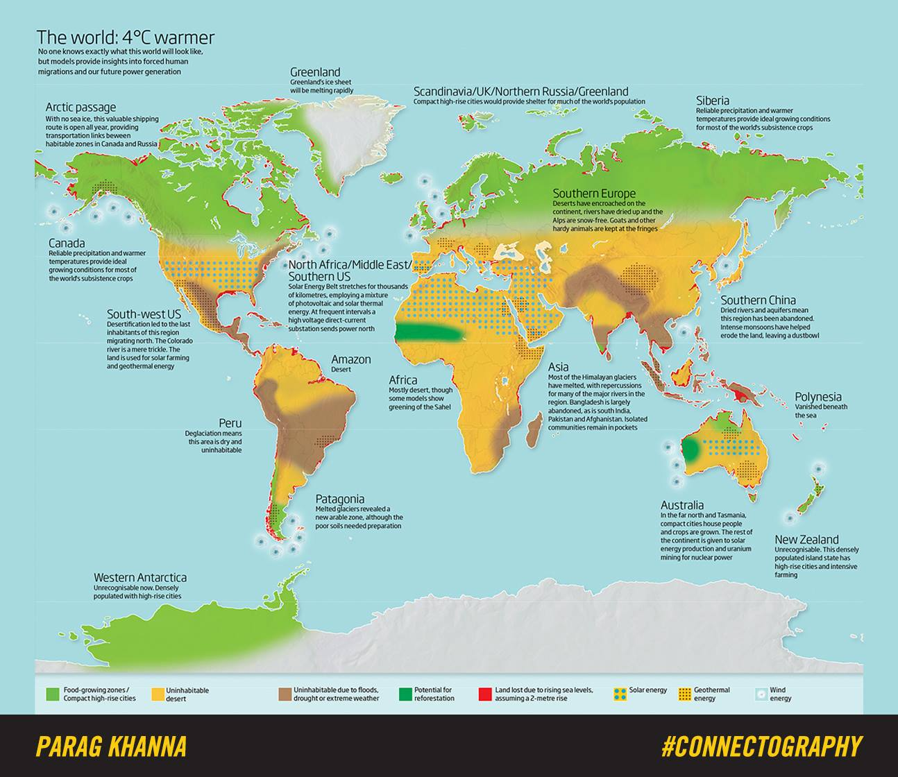 A Map Shows What Happens When Our World Gets Four Degrees Warmer