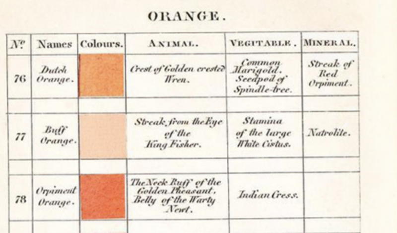 Werner's Nomenclature of Colour, the 19th-Century