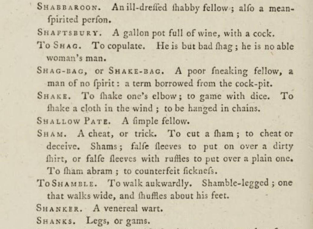Read A Classical Dictionary of the Vulgar Tongue, a