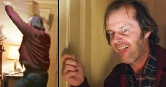 Jack Nicholson Shining watch jack nicholson get maniacally into character for the shining's