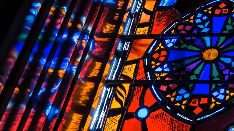 Time Lapse Video Captures Light Illuminating the Stained Glass