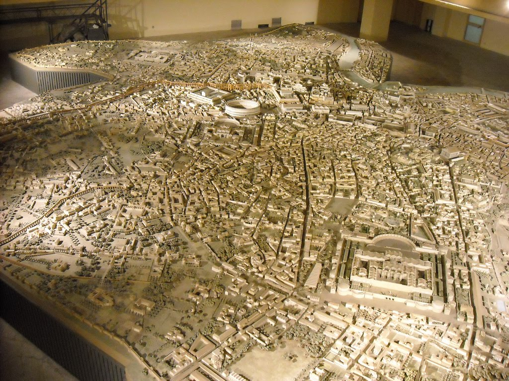 A Huge Scale Model Showing Ancient Rome At Its Architectural