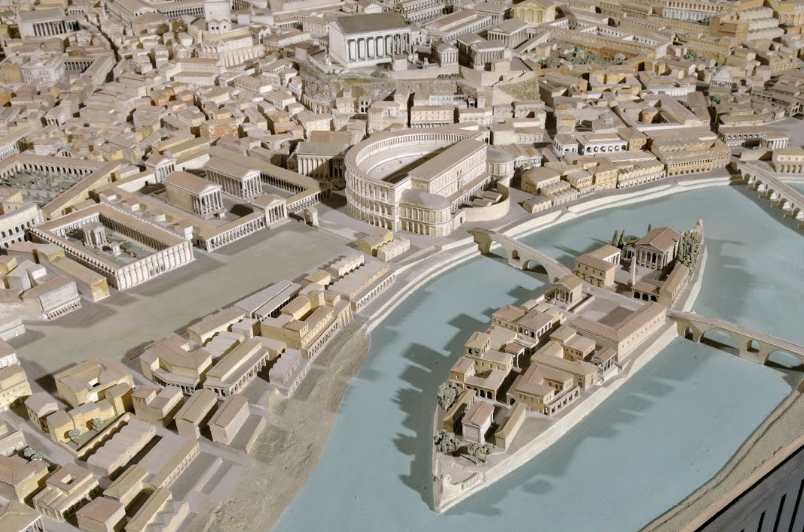 A Huge Scale Model Showing Ancient Rome at Its Architectural Peak (Built Between 1933 and 1937)