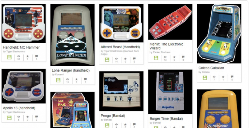Play a Collection of Classic Handheld Video Games at the Internet Archive: Pac-Man, Donkey Kong, Tron and MC Hammer