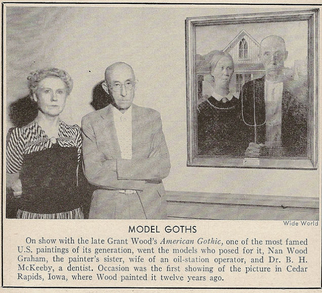 Grant Woods American Gothic Now Hangs At The Art Institute Of Chicago And On Museums Website Youll Find A Little Background Information