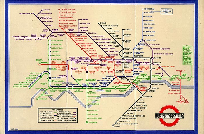 Ideal Nyc Subway Map Efficient.The Genius Of Harry Beck S 1933 London Tube Map And How It