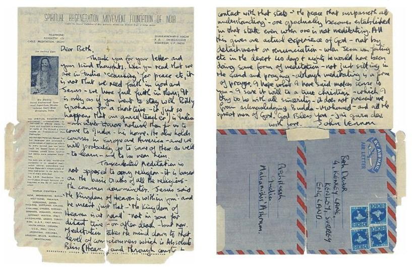 John Lennon Extols The Virtues Of Transcendental Meditation In A Spirited Letter Written To A Beatles Fan 1968 Open Culture