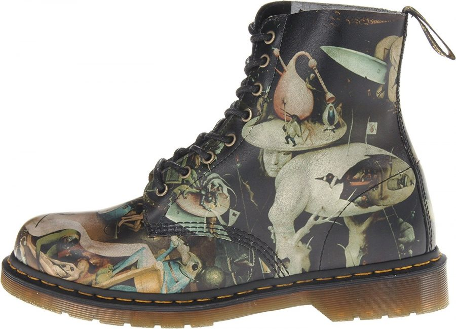 """f39e1b0239b Doc Martens Boots Adorned with Hieronymus Bosch's """"Garden of Earthly ..."""