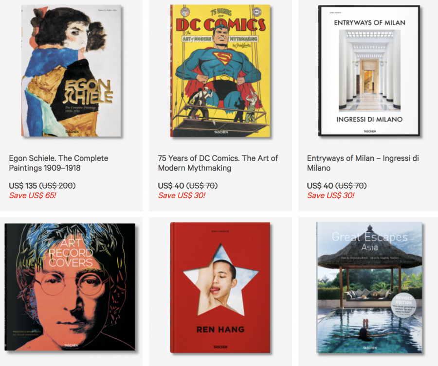 Taschen Running a Big Warehouse Sale with Books Up To 75% Off (June 21-24)