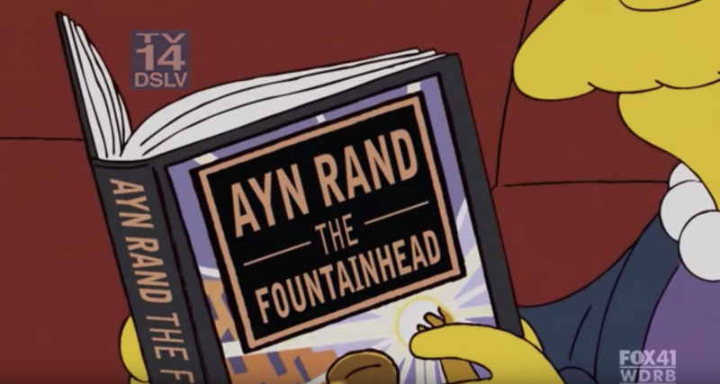 The Simpsons Take on Ayn Rand: See the Show's Satire of The Fountainhead and Objectivist Philosophy