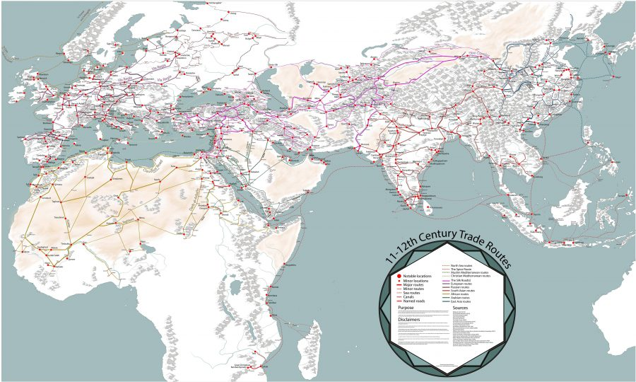 Behold an Incredibly Detailed, Handmade Map Of Medieval Trade Routes