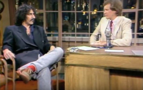 Frank Zappa's 1980s Appearances on The David Letterman Show