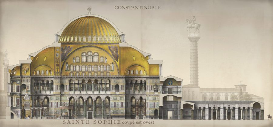 French Illustrator Revives the Byzantine Empire with Magnificently Detailed Drawings of Its Monuments & Buildings: Hagia Sophia, Great Palace & More