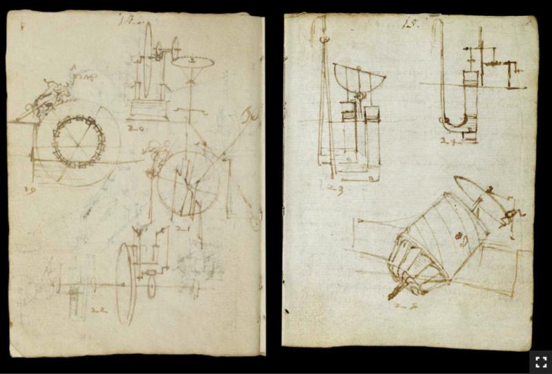 Leonardo da Vinci's Earliest Notebooks Now Digitized and Made Free Online Artes & contextos Leonardo VA1 e1535696796964