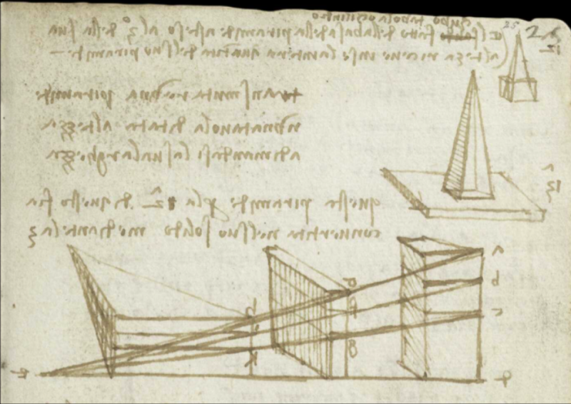 Leonardo da Vinci's Earliest Notebooks Now Digitized and Made Free Online: Explore His Ingenious Drawings, Diagrams, Mirror Writing & More