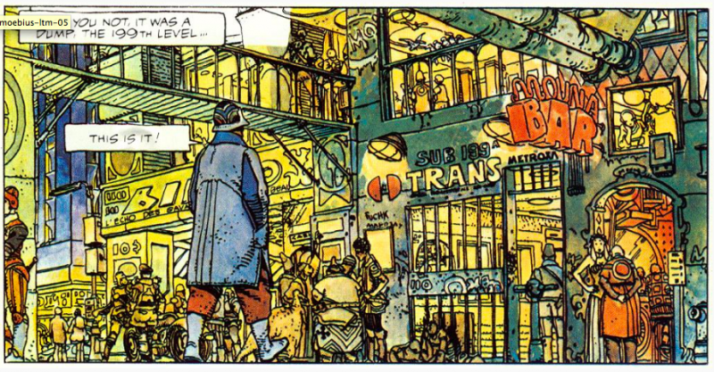 """""""The Long Tomorrow"""": Discover Mœbius' Hard-Boiled Detective Comic That Inspired Blade Runner (1975)"""