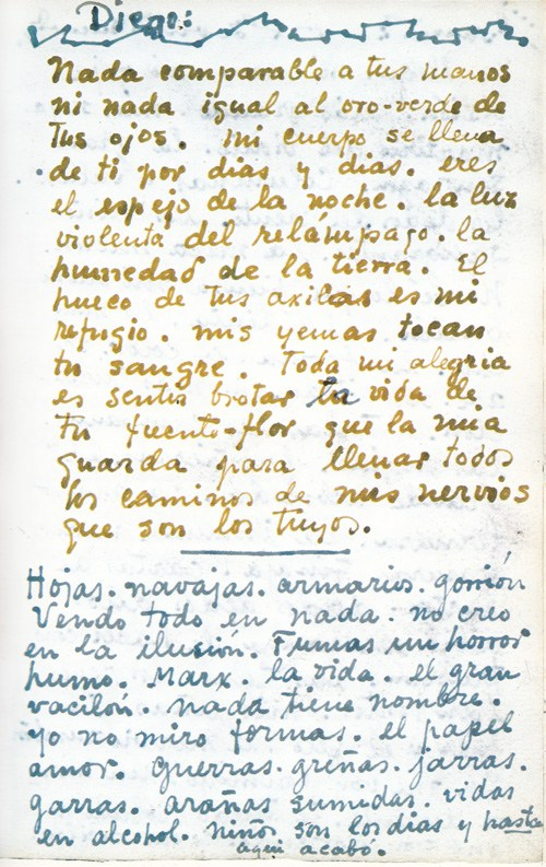 Frida Kahlos Passionate Love Letters To Diego Rivera